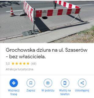 Grochowska dziura na Google Maps Google Maps