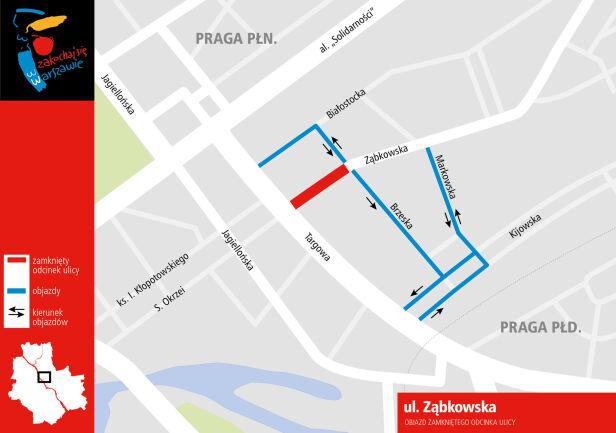Objazd na Ząbkowskiej Infoulice