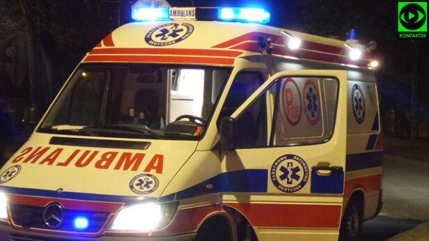 Ranna kobieta trafiła do szpitala Tomasz Zieliński