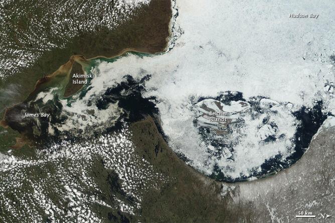 Zatoka Hudsona, czerwiec 2012 roku (NASA)
