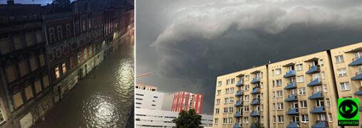 Burzowe chmury i zalane ulice. Ponad 150 interwencji na Śląsku