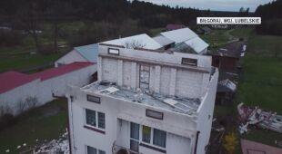 Skutki nawałnicy w gminie Tereszpol na Lubelszczyźnie